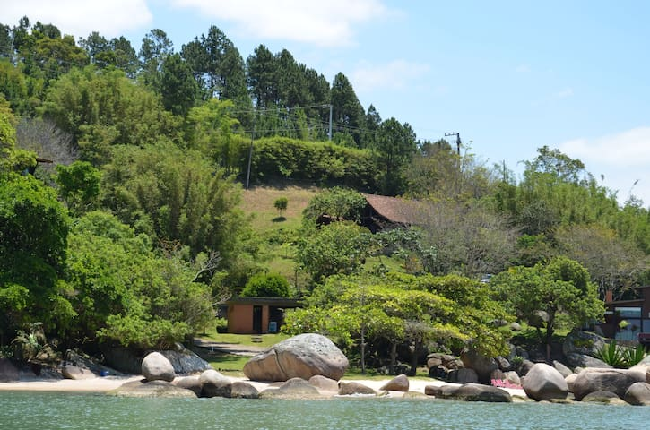 View of a art of the property from the sea