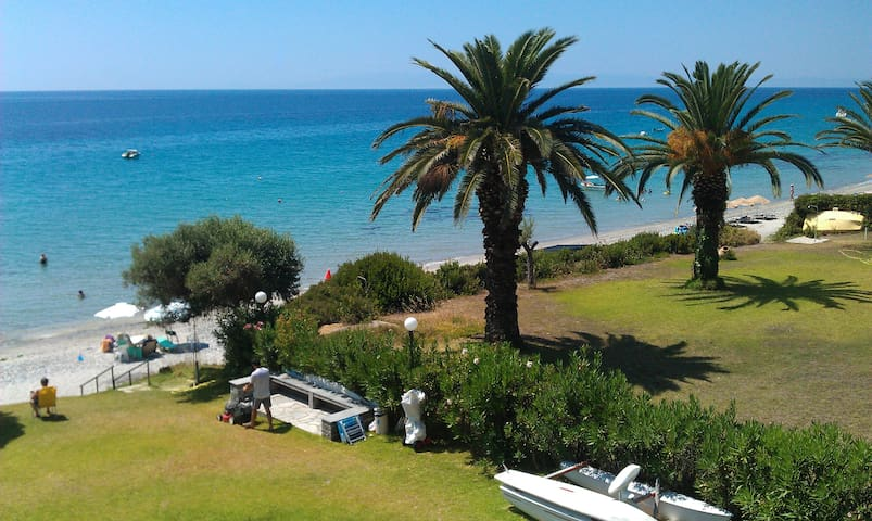 Sea front, private beach apartment! - Kassandra - Apartament