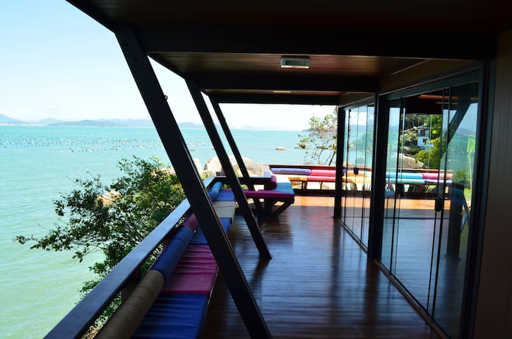 Terrace of the beach house