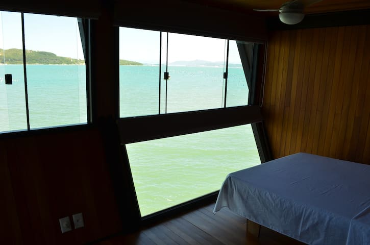 View from one of the rooms of the beach house