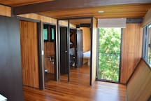 View of one of the bedrooms of the beach house