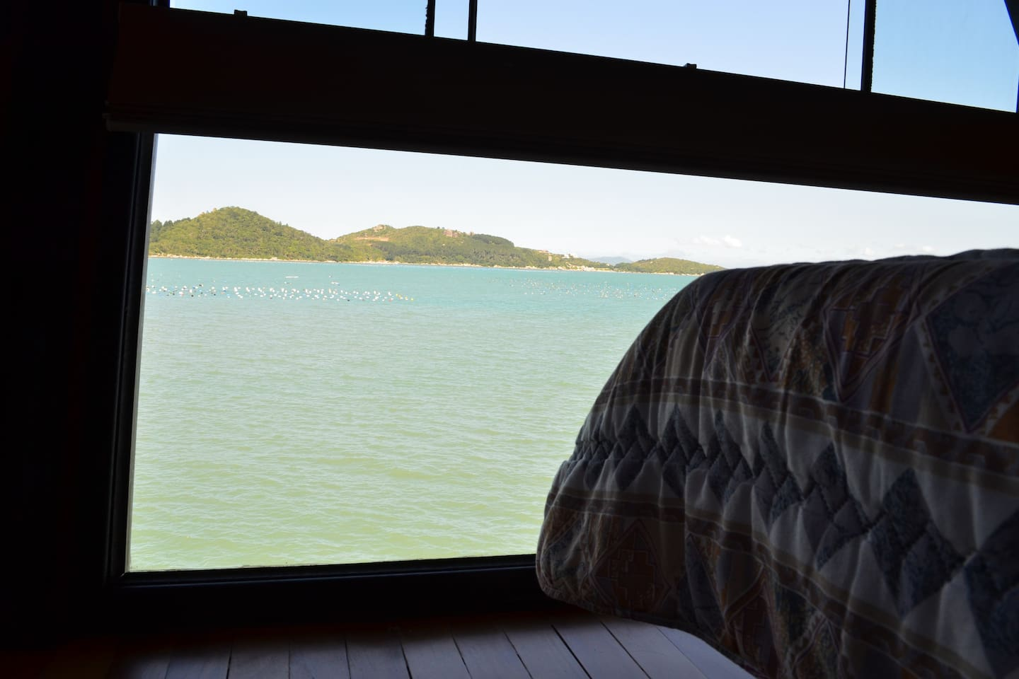 View from one of the bedrooms of the beach house