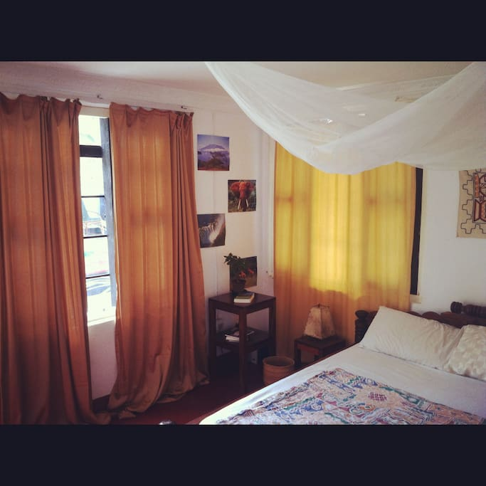 Cute little room with double bed,  mosquito net, AC,....
