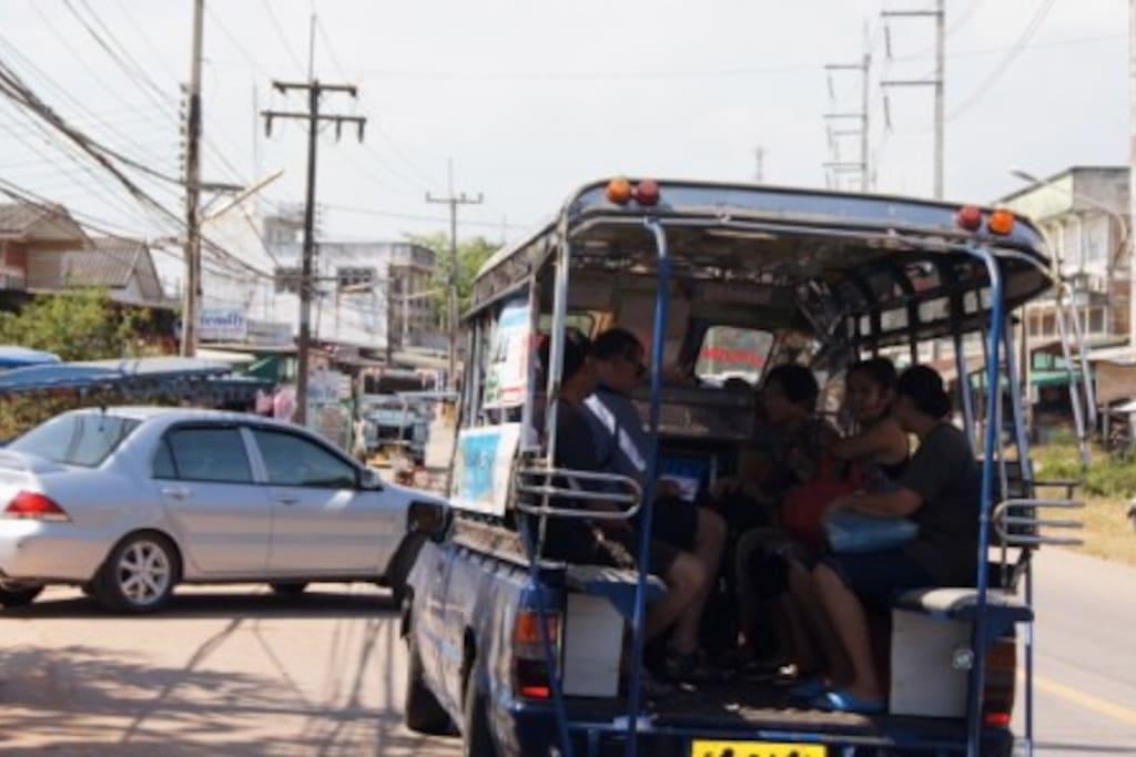 transport pour aller au centre ville. arrêt devant la résidence.