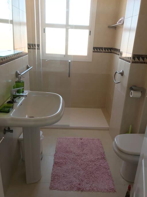 Baño planta baja, preparado para uso de discapacitados.