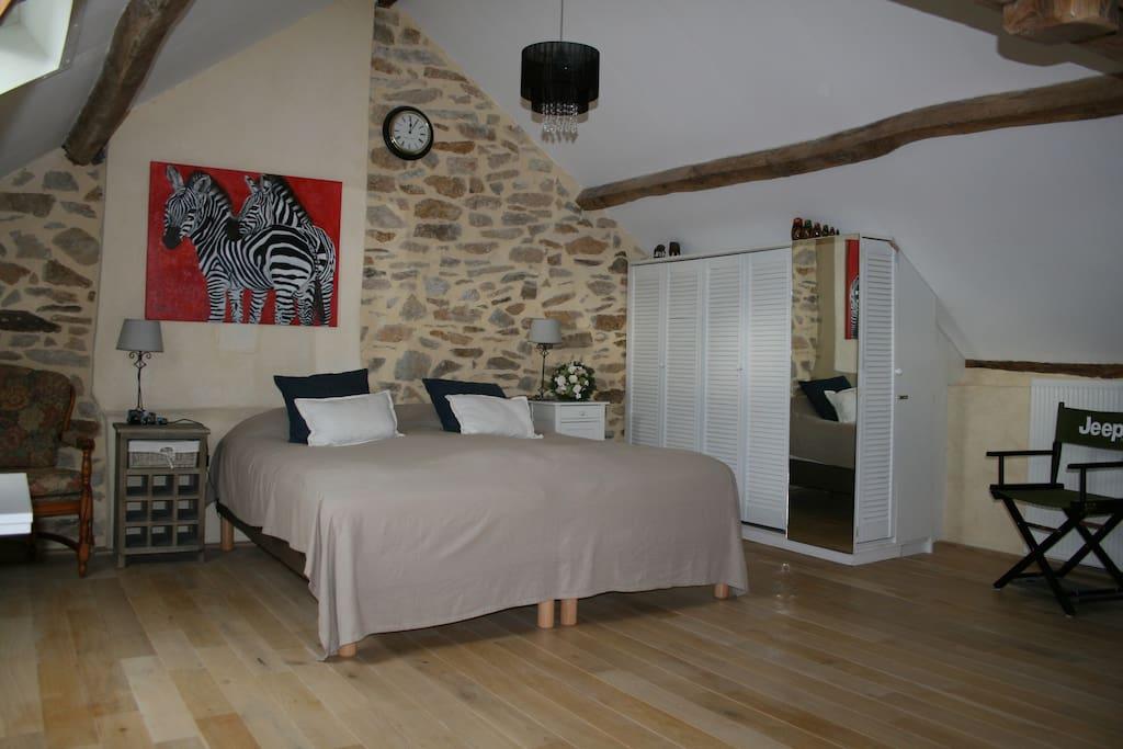 De slaapkamer in het appartement