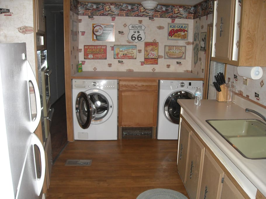 kitchen laundry area