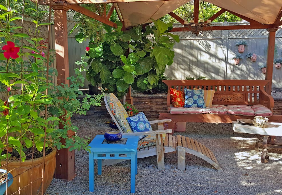 Sunbathe or meditate in our secluded garden