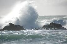 Gros temps, plage de Donnant
