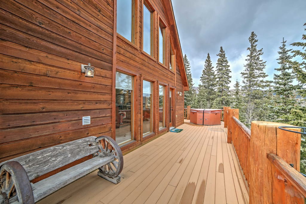 You'll love hanging out on the wraparound deck.