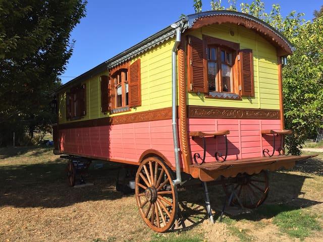 Roulotte de la Gandoue-Camping à la ferme