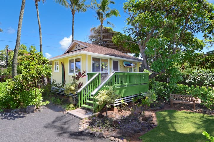 17 Palms Kauai: 2 Tropical Cottages 1 Blk to Beach - Kapaa - Huis