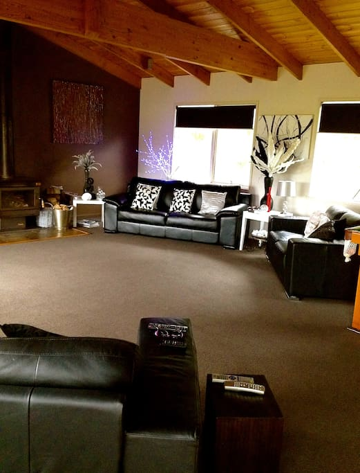Our beautiful open plan upstairs living area.