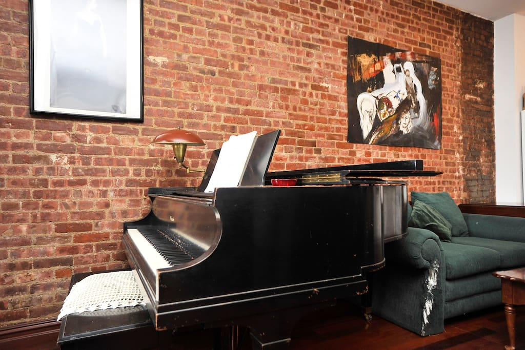 The piano... a 6ft baby grand in living room. feel fre to play when you stay!