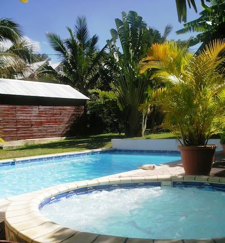 house, swimming pool, SPA, 15 min.  - Entre-Deux - Villa