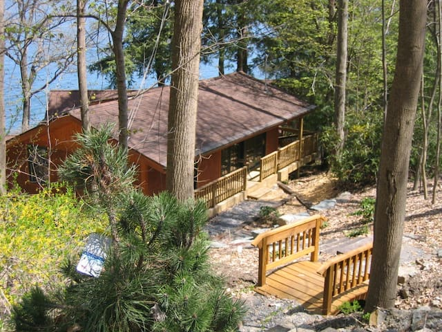 2-bdrm lake cabin in trees/ithaca