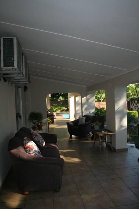 Verandah in front of rooms