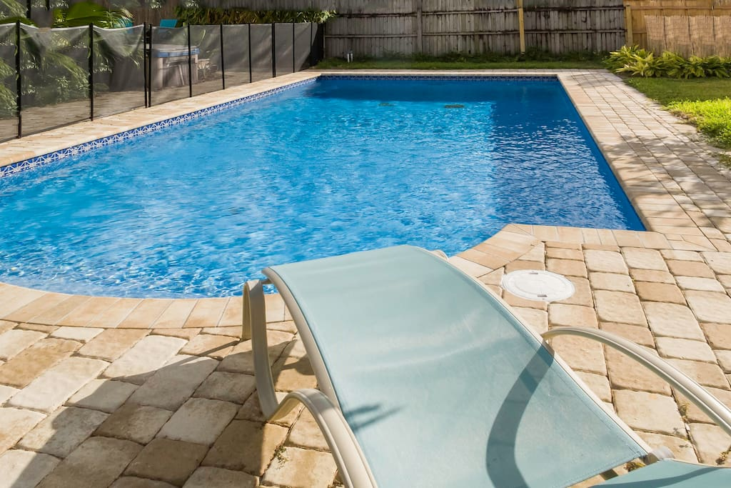 Cool off in the pool or relax in the Florida sun.