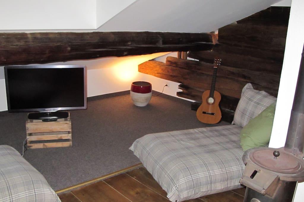 Wohnbereich oberes App., Living Room upper App.
