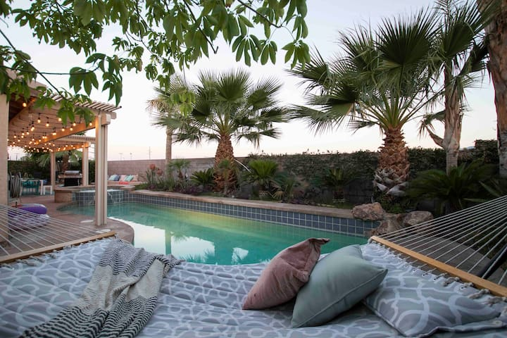 Relaxation starts in this Desert Oasis