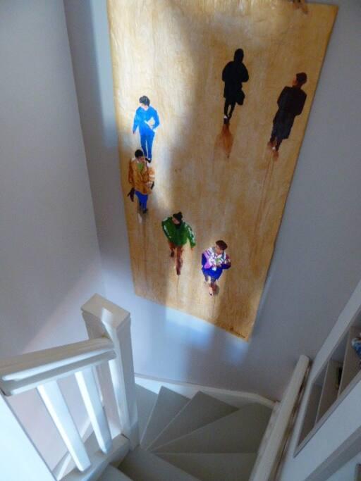 l'escalier et son rayon de soleil