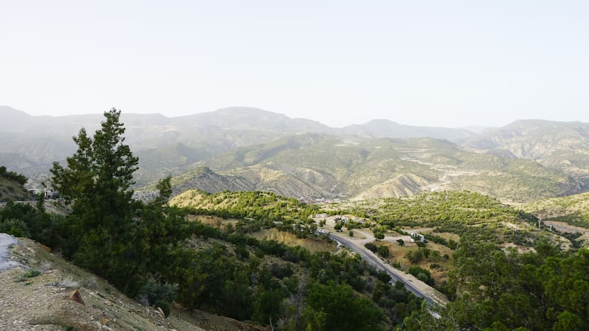 Aqsri village in a way to Paradis valley