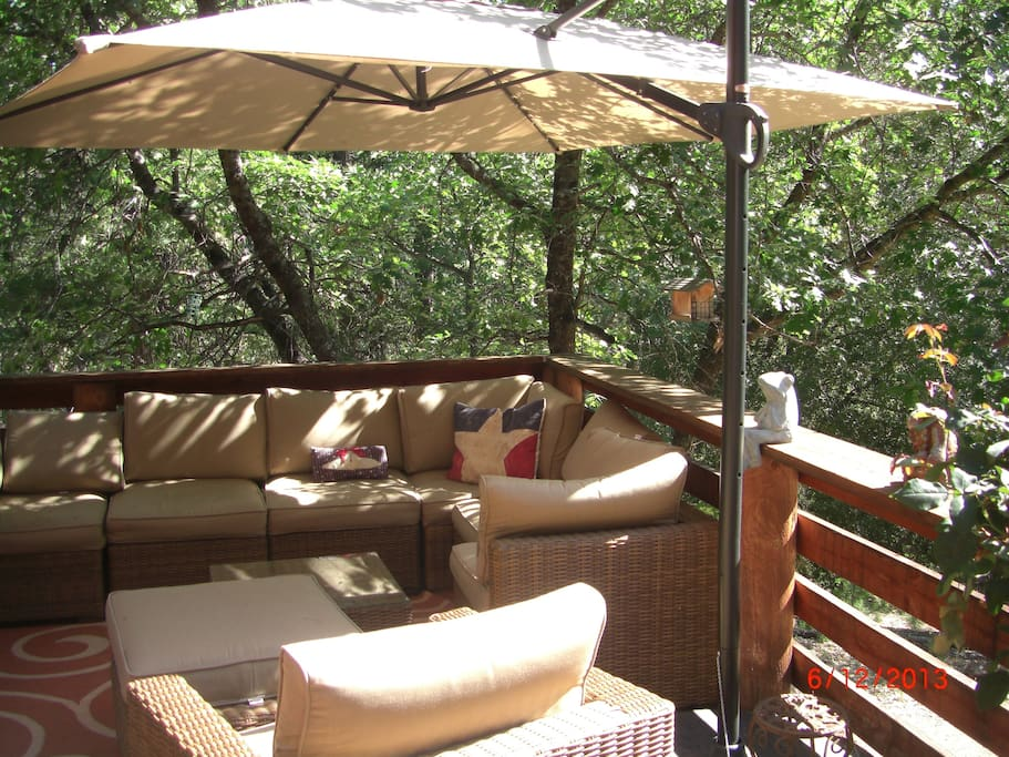 Spacious Deck, fire pit, Forest Views