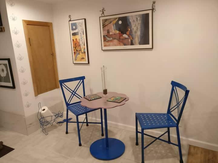 Remodeled basement studio private door, 30 days+