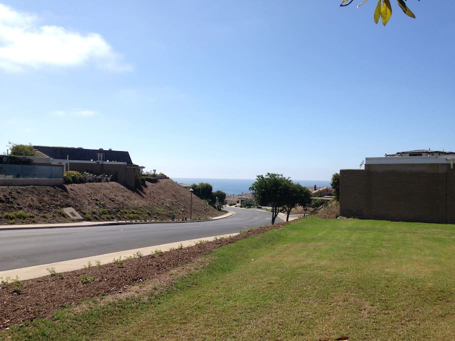 View from backyard with ocean within walking distance
