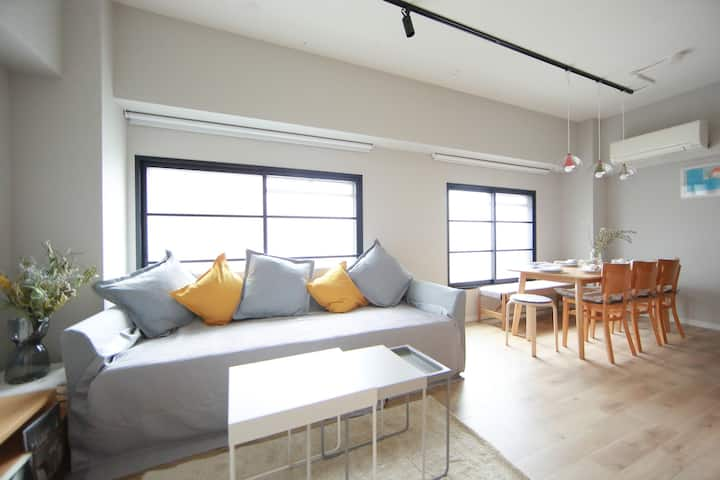 Up to 8 ppl/ 6mins Kobe sta./ Free bicycle , wi-fi