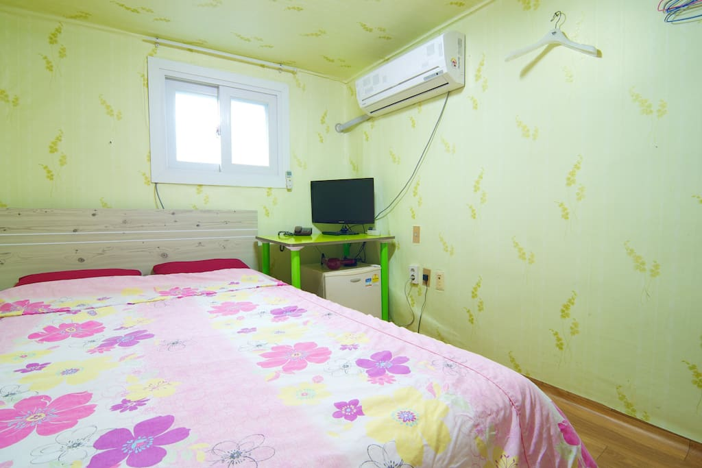 Double room with toilet & shower room