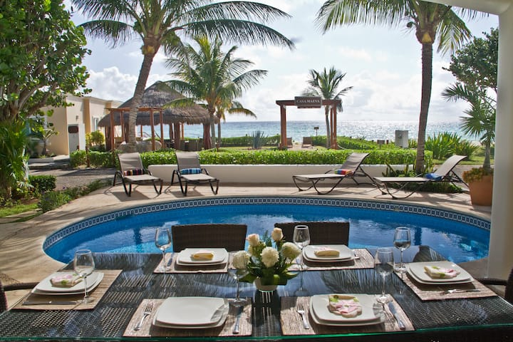 Beachfront Casa Maeva 4 bedrooms-