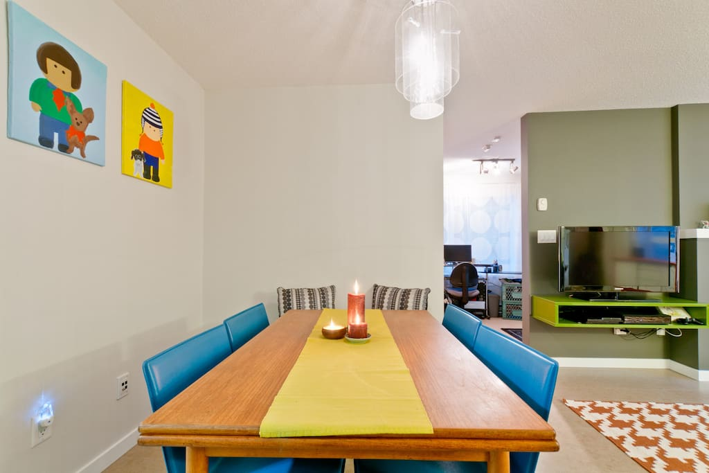 The shared dining area
