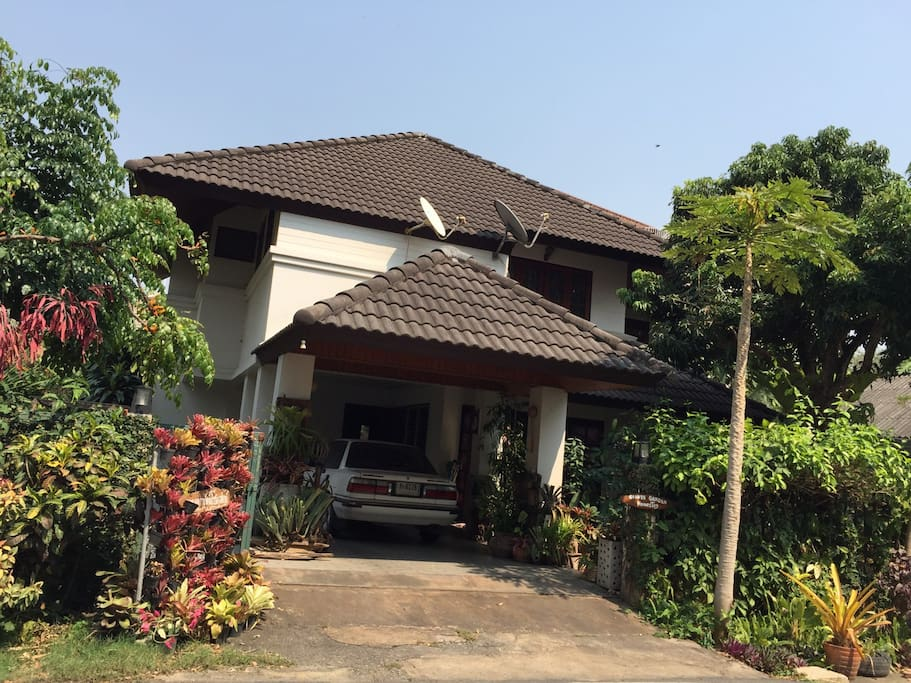 In front of house