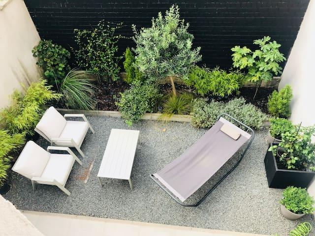 Duplex, terrasse et jardin centre Bruxelles