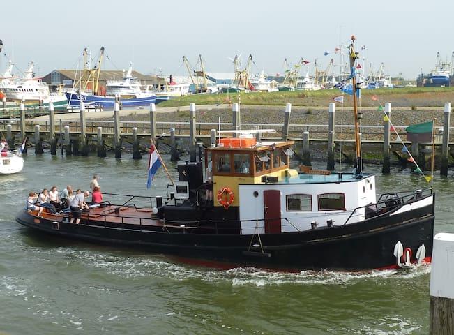 Slapen op de historische Sleepboot Egbertha - Oudeschild - Vene