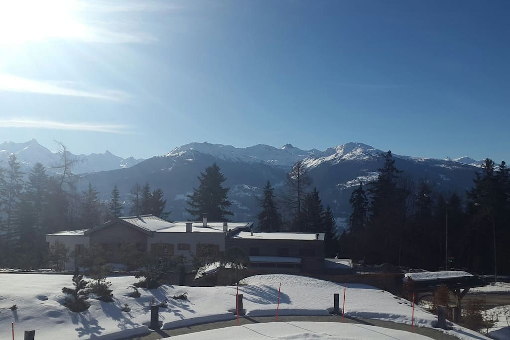 Southern view from the Chalet