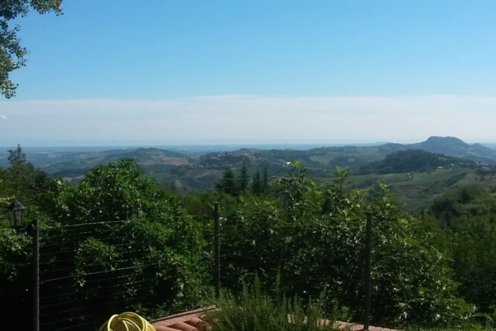 Panorama sulle colline vicine