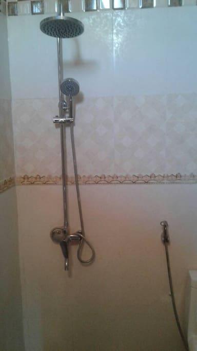 In-room shower