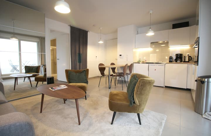 A52-Beautiful apartment for 4 people with parking, near Cité du Vin
