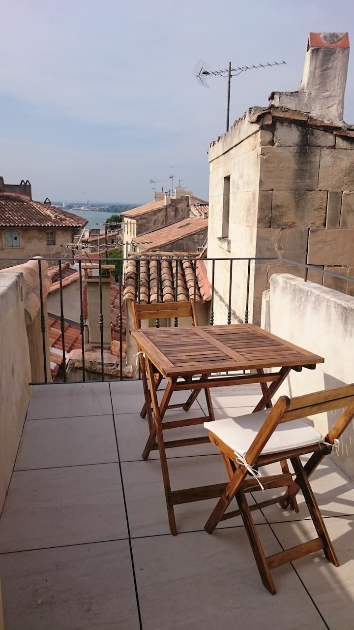 Charming apartment, exceptional view terrace