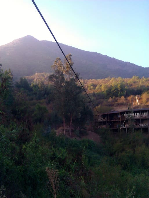 THIS IS HE VIEW FROM THE END OF THE ZIP LINE!