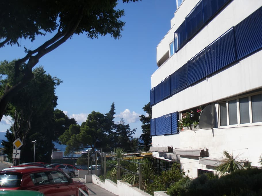 the building from the outside