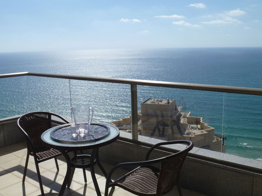 Relax on the balcony and take in the amazing view