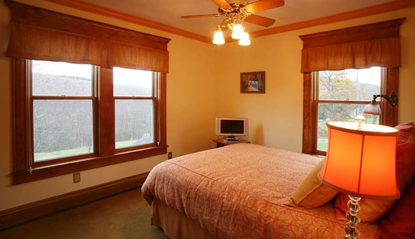 The Orange Room at Breezy Hill B&B - Fleischmanns - Bed & Breakfast