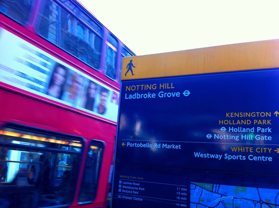 Our local Underground station, Ladbroke Grove, right next to the Portobello Room
