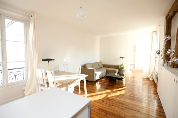 Beautiful flat, quiet, spacious and bright