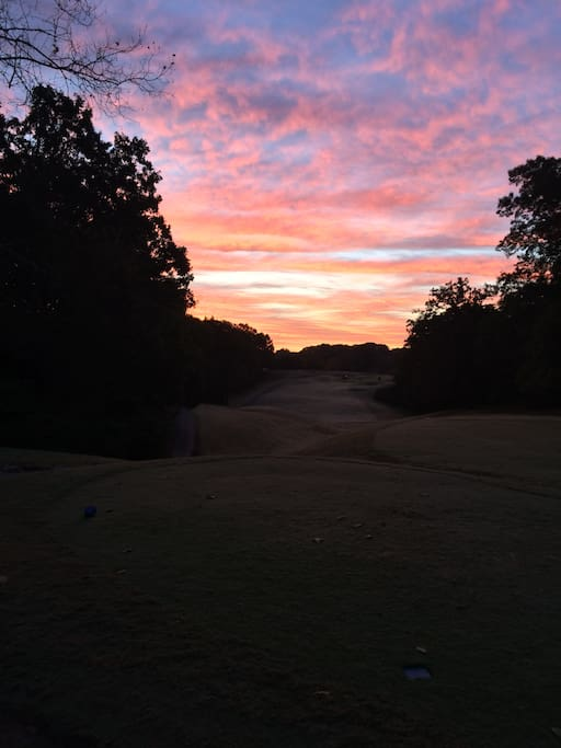 Another beautiful sunrise in on the golf course!