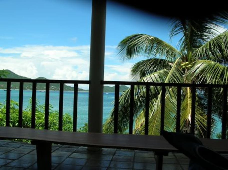 View of Hillsborough Bay from the verandah