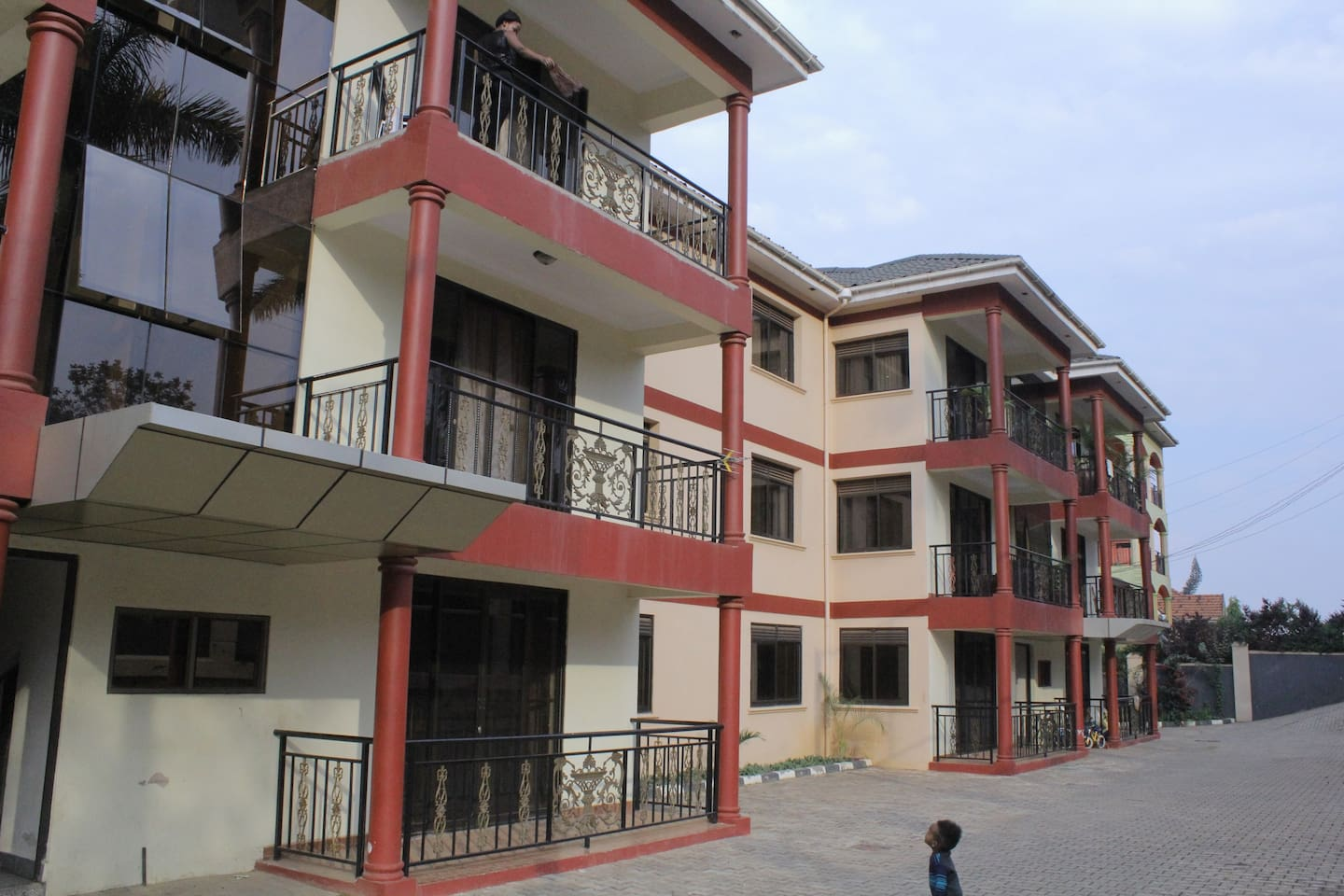 Front view of apartments